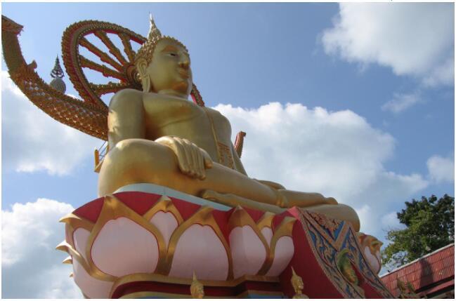 The gilded Big Buddha is worthy of its name