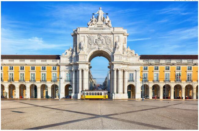 Lisbon's shopping square is impressive
